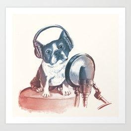 Dog Music Art Print