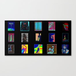 Collage of Aliens  Canvas Print