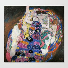 Gustav Klimt Die Jungfrauen The Maiden Canvas Print