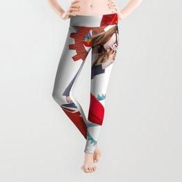Red Flamingo Trends by Lenka Laskoradova Leggings