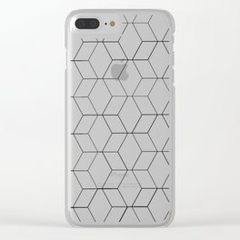 Black and white geometrics Clear iPhone Case