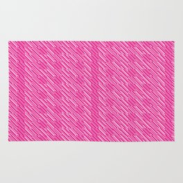 Geometric Optical Illusion Pattern V - Magenta Rug