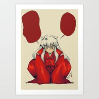 inuyasha Art Prints featuring Inuyasha by KanaHyde