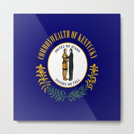flag of kentucky-america,usa,midwest,Bluegrass,  Hemp State,Kentuckian,Louisville,lexington,richmond Metal Print