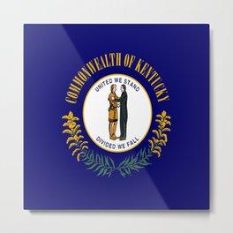 flag of kentucky-america,usa,midwest,Bluegrass,  Hemp State,Kentuckian,Louisville,lexington,richmond Metal Print