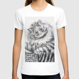 Louis Wain - Cat Portrait T-shirt