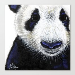 Panda Bear ' PANDA ' by Shirley MacArthur Canvas Print