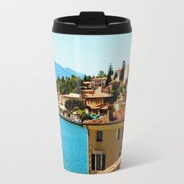 Limone Sul Garda Lake Garda Italy photo painting  Travel Mug