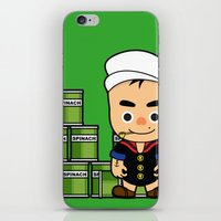 popeye iPhone & iPod Skins featuring Popeye  by Jefferson Ng