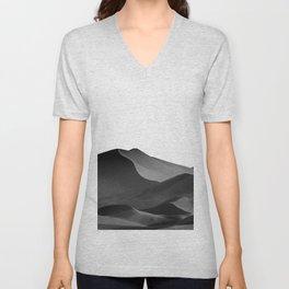 dunes(Black and white) Unisex V-Neck