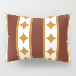 Bars and Stars,mocca Pillow Sham