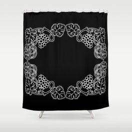 Abstract frame with bunches of grapes Shower Curtain