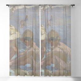 Joaquin Sorolla y Bastida - The Wounded Foot Sheer Curtain