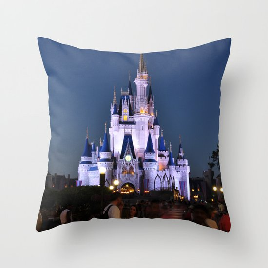 Cinderella's Castle II Throw Pillow