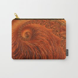 Orange Lily Fractal Carry-All Pouch