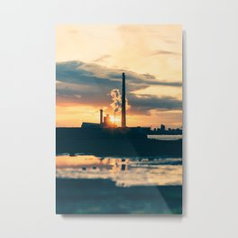 Poolbeg Pigeon House Power Station chimneys Metal Print