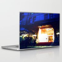 outdoor Laptop & iPad Skins featuring In Through the Outdoor~ New York City by 13th Moon Social Club