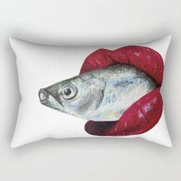 Fishy Lips Rectangular Pillow