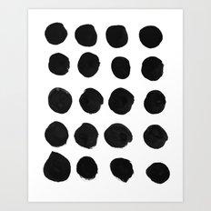 Black Dots Art Print