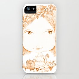 Monochrome Love: Orange iPhone Case