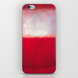 Mark Rothko - White over Red iPhone Skin