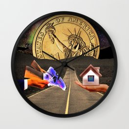 Saying ' Cost an Arm and a Leg ' Housing Problem Funny Artistic Collage Wall Clock