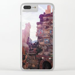 Stone Cat at Mystery Castle Clear iPhone Case
