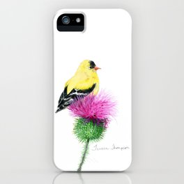 Little Goldfinch by Teresa Thompson iPhone Case
