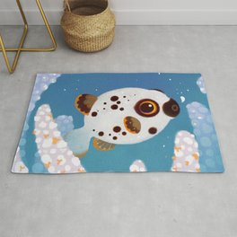 Blackspotted puffer Rug