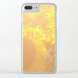Glowing in Sunlight Sunflower Photography Clear iPhone Case