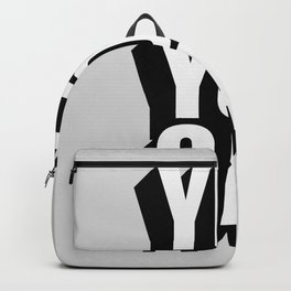 YES YOU CAN black and white motivational typography inspirational home wall bedroom decor Backpack