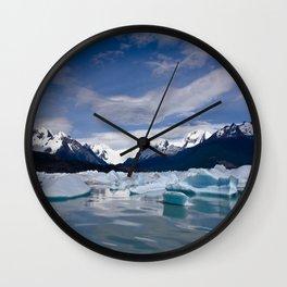 Perito Moreno #3 Wall Clock