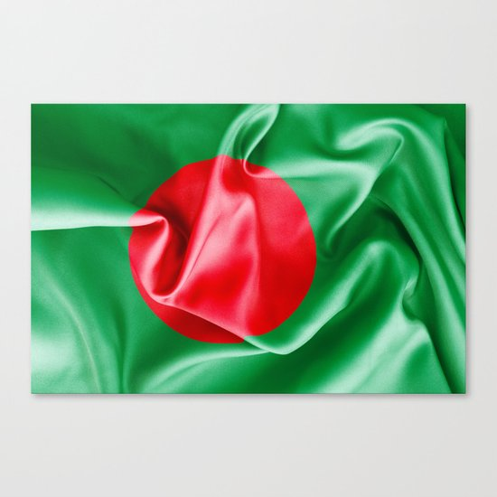 Bangladesh Flag Canvas Print