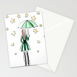 Star Showers Stationery Cards