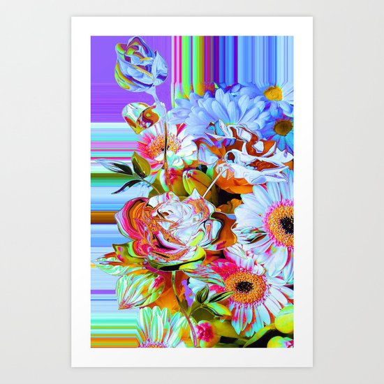 Wild Floral Abstract Art Print
