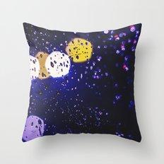 colourful rain Throw Pillow