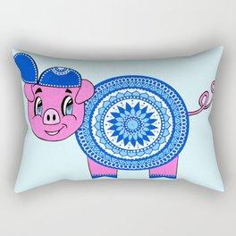 PIG MANDALA CHILDREN Rectangular Pillow