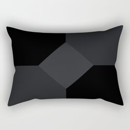 Simply Black on Black Rectangular Pillow