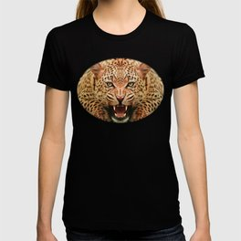 Mid Century Leopard in Tropical Forest T-shirt