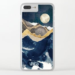 Midnight Winter Clear iPhone Case
