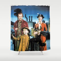 Jack Torrance in Mary Poppins Shower Curtain