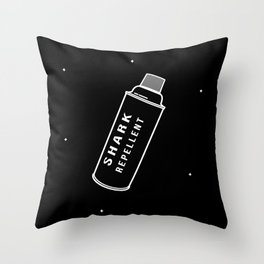 Shark repellent Throw Pillow