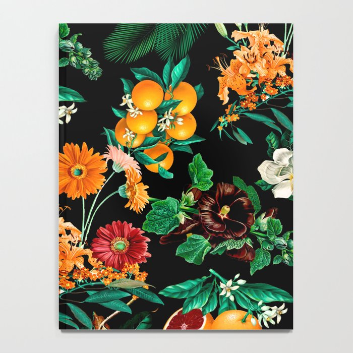 Fruit and Floral Pattern Notebook