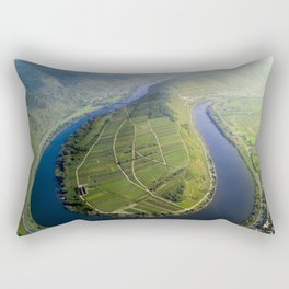 Incredible Mosel River Bend in Germany Rectangular Pillow