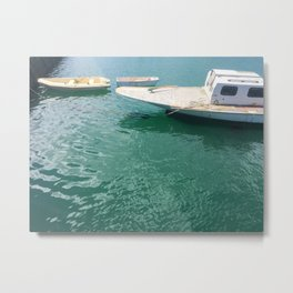 Three Different Boats Metal Print