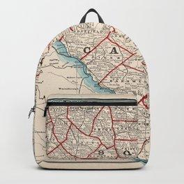 Vintage Map of South Carolina (1893) Backpack