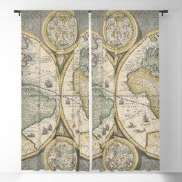 4k high definition ancient world map Blackout Curtain