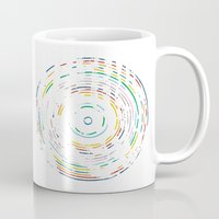 record Mugs featuring Rainbow Record by Project M