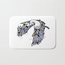 Heron Geometric Bird Bath Mat