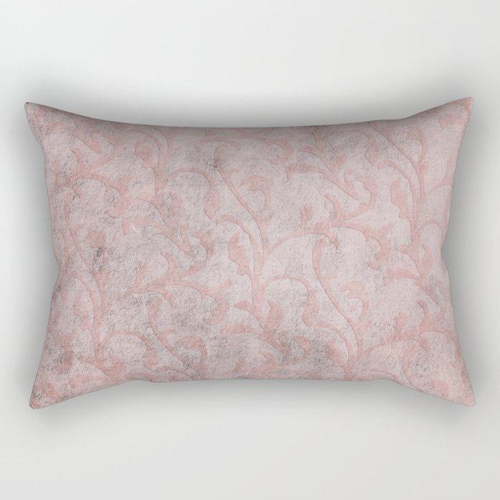 Dirty princess - Elegant Damask pattern with grunge effect Rectangular Pillow